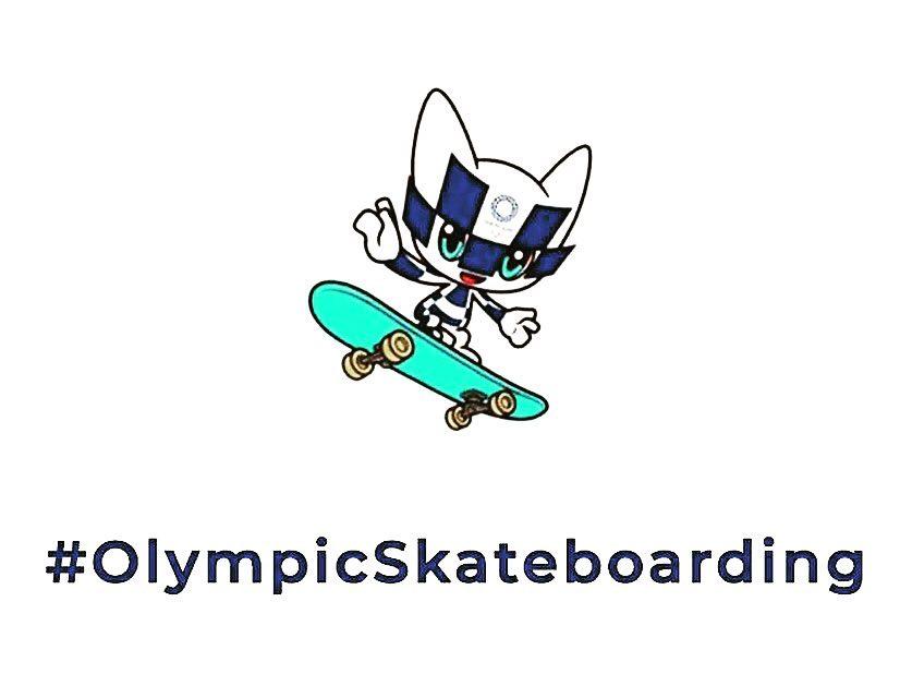 olimpic skateboarding mascot